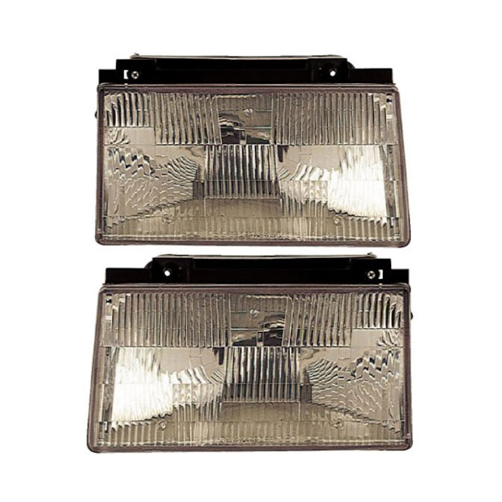 Ford Tempo Headlight Assembly Pair