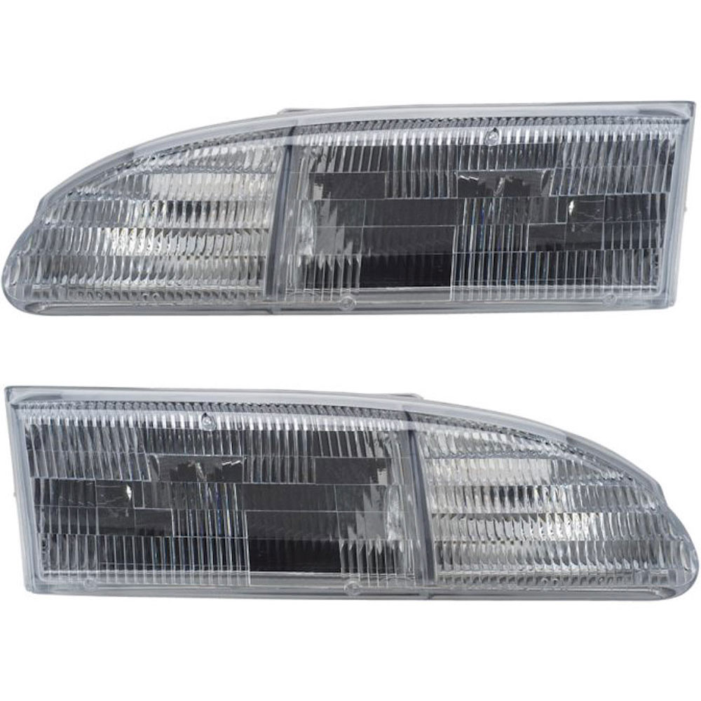 BuyAutoParts 16-80495A9 Headlight Assembly Pair