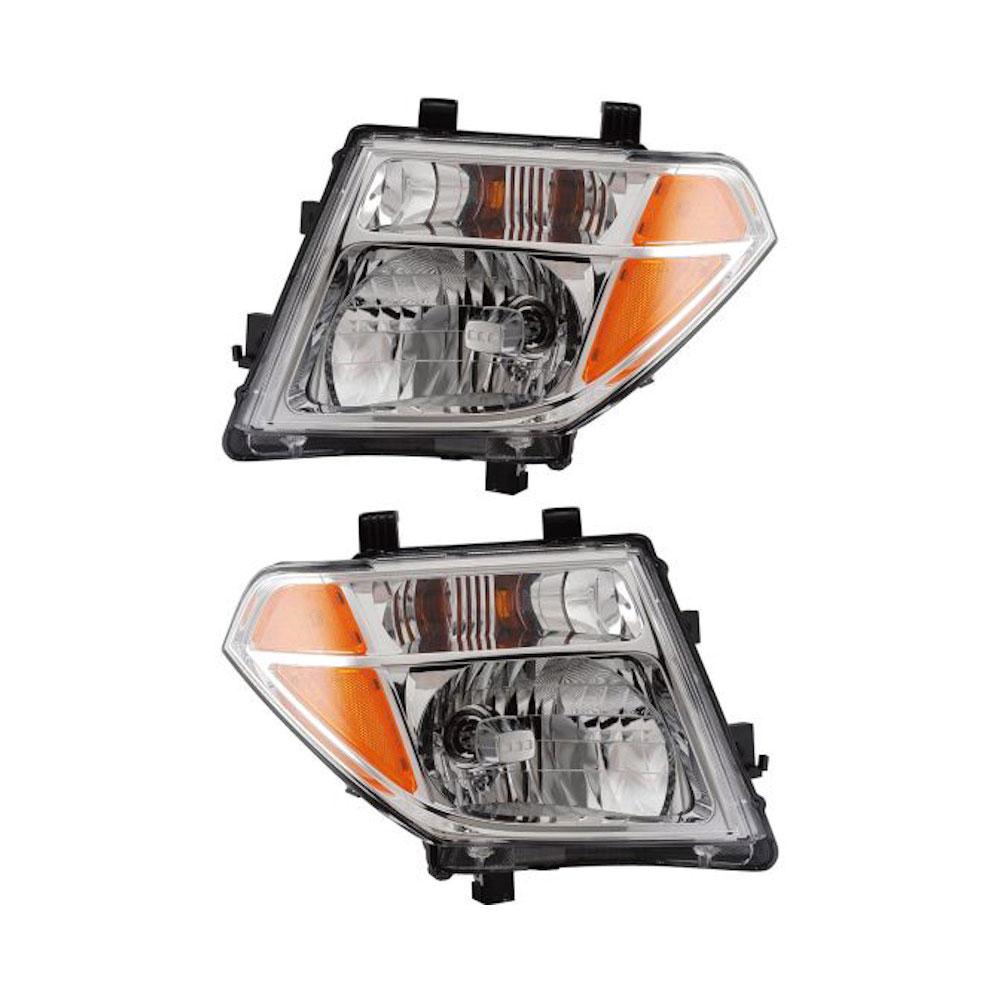 Nissan pathfinder headlight assembly pair