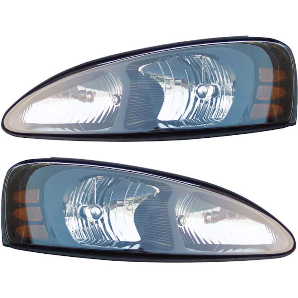 pontiac grand prix headlight assembly pair parts view. Black Bedroom Furniture Sets. Home Design Ideas