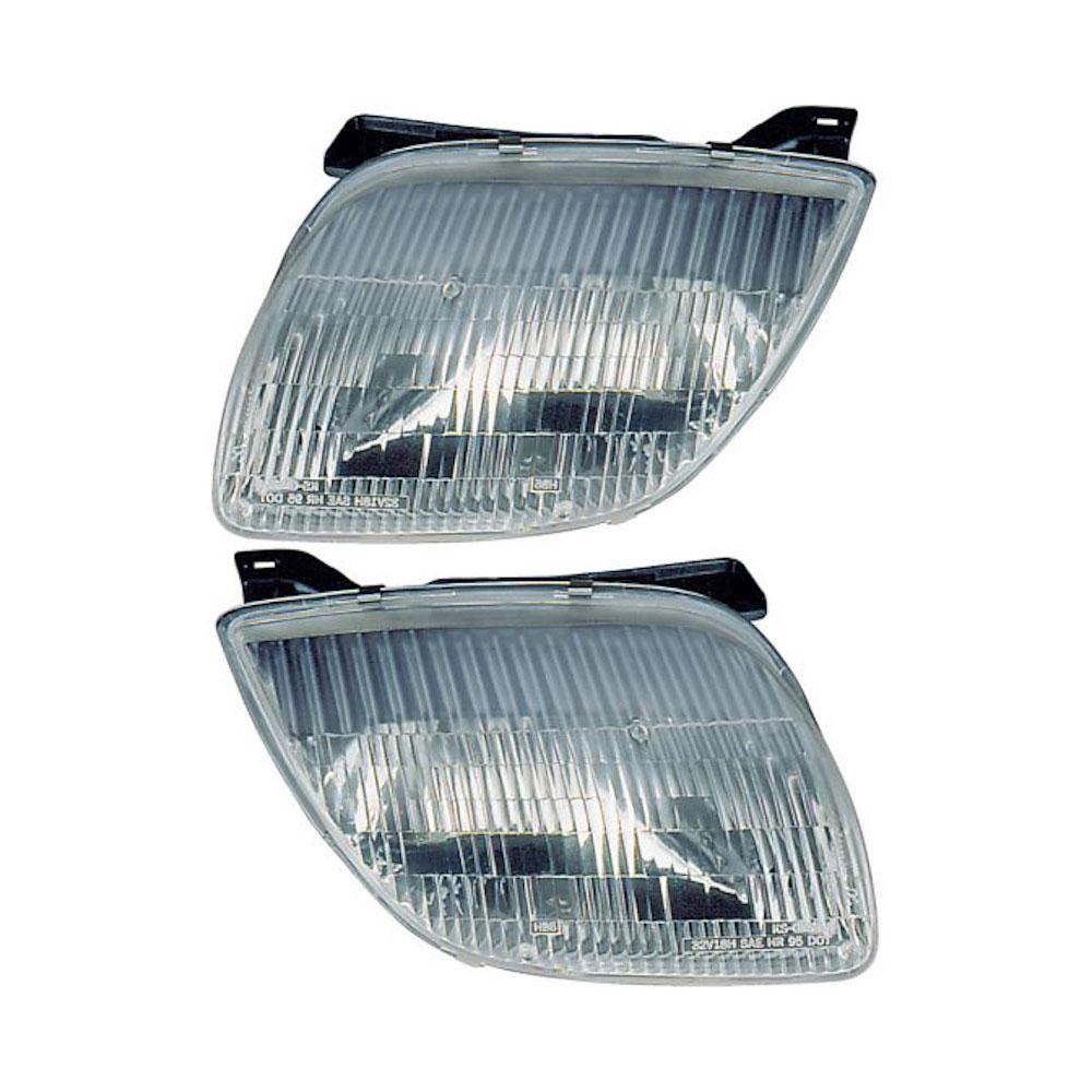 Pontiac Sunfire Headlight Assembly Pair