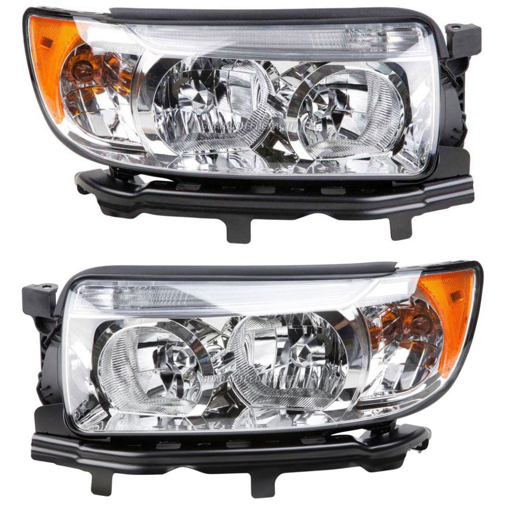 2006 subaru forester headlight assembly pair pair of. Black Bedroom Furniture Sets. Home Design Ideas