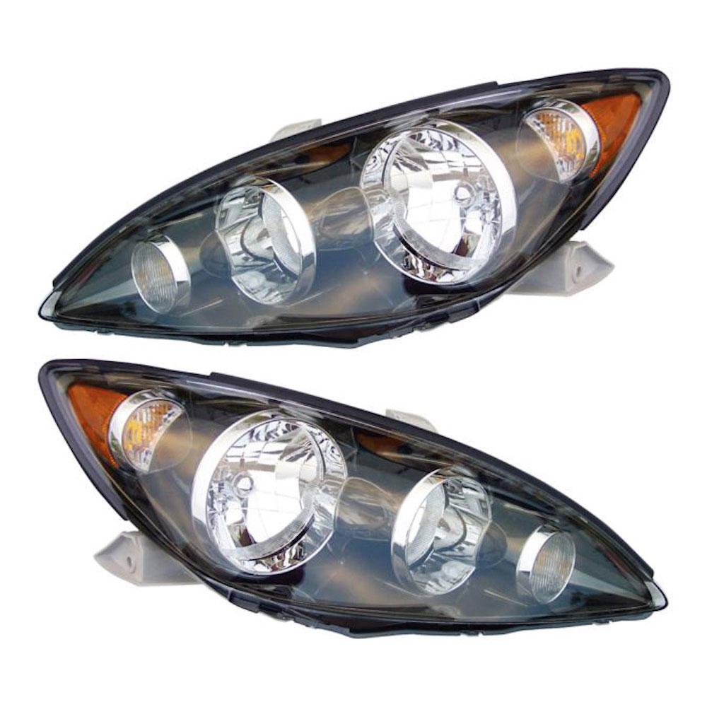 2006 toyota camry headlight assembly pair pair of headlight assemblies se models 16 80827 a9. Black Bedroom Furniture Sets. Home Design Ideas