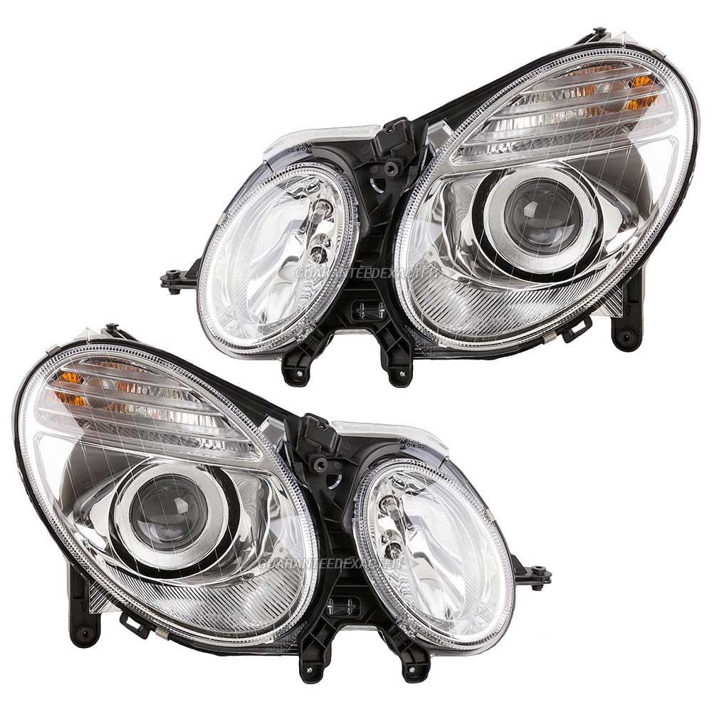 2007 Mercedes Benz E280 Headlight Assembly Pair