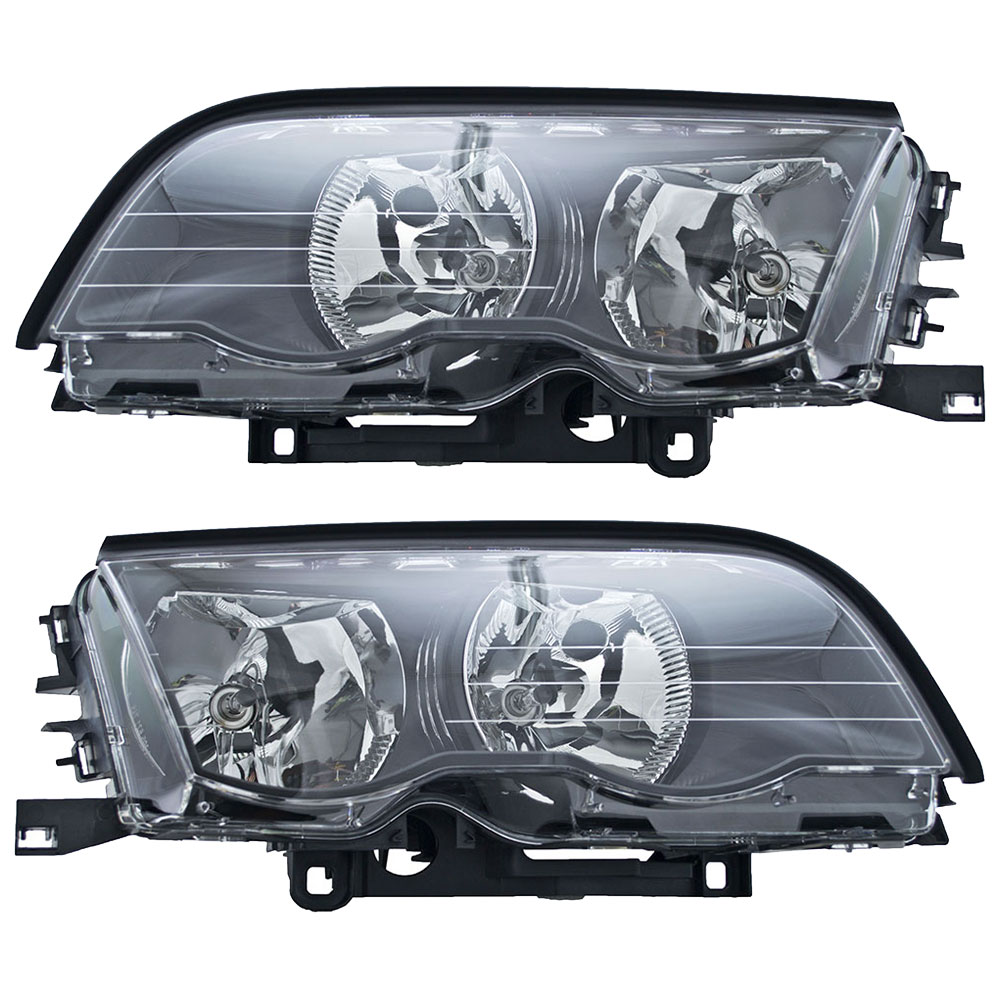 BMW 325xi Headlight Assembly Pair