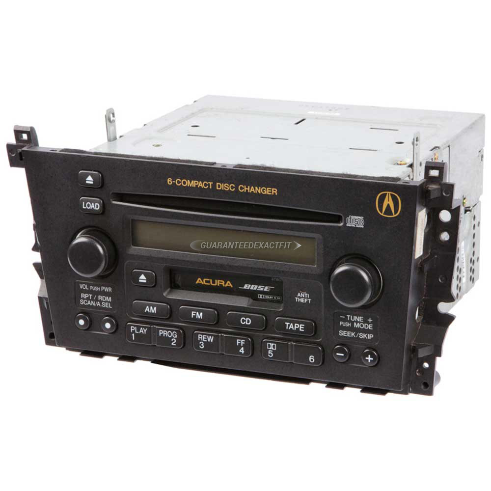 2002 Acura TL Radio Or CD Player AM-FM-Cass-6CD Radio With