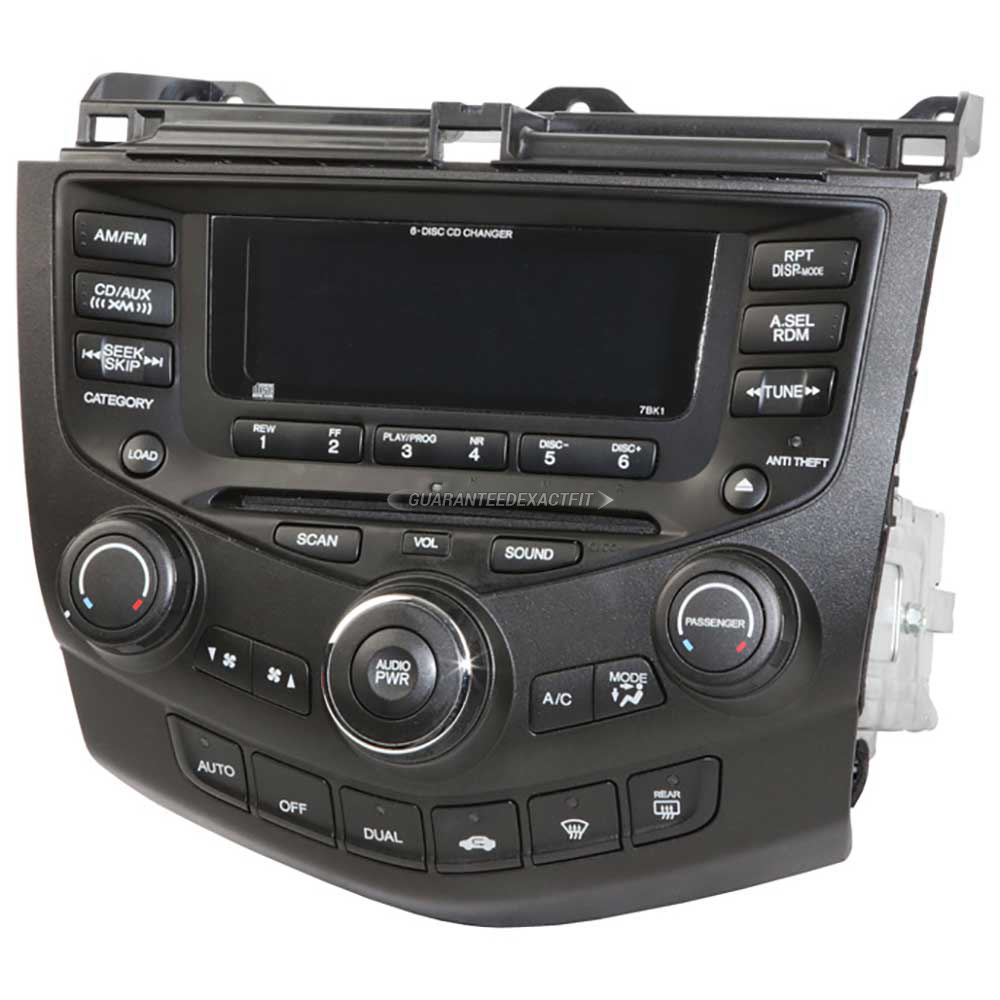 2007 honda accord radio or cd player radio am fm 6cd with. Black Bedroom Furniture Sets. Home Design Ideas