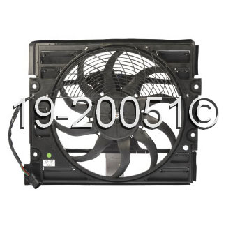 BMW 740 Cooling Fan Assembly