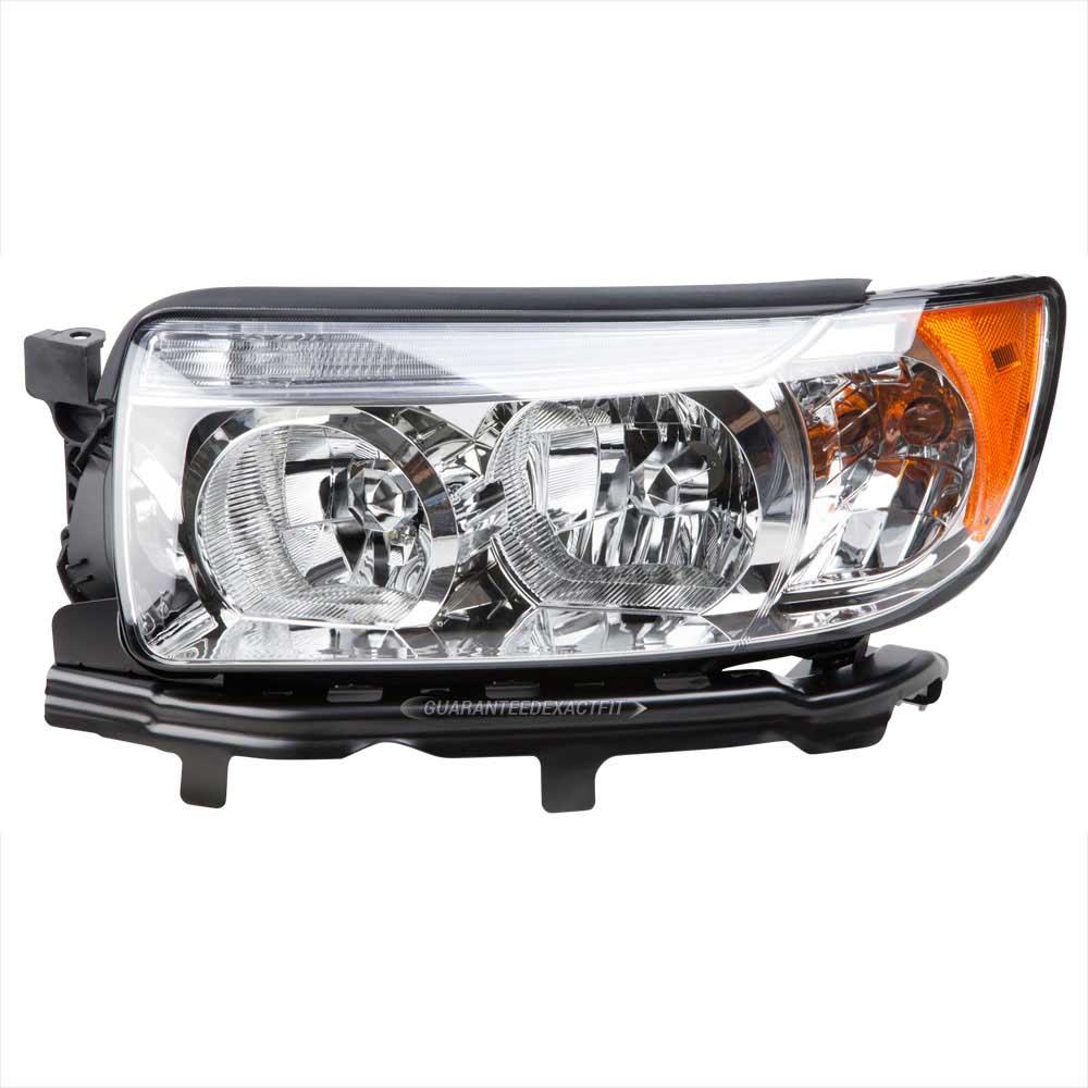 2007 Subaru Forester Headlight Assembly Left Driver Side Halogen Models Without Sport