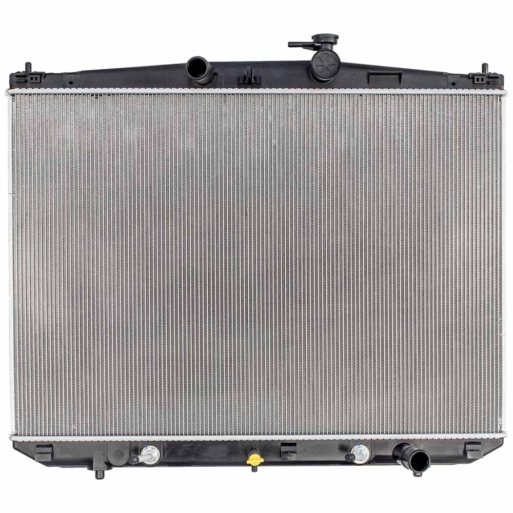 Radiator 221-9352 Denso for Toyota Highlander 14-17 2.7L L4 3.5L V6