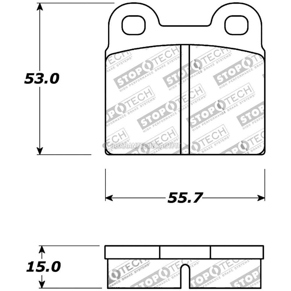 Alfa Romeo Spider Brake Pad Set