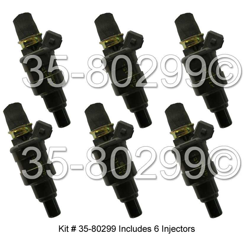 BMW 630csi Fuel Injector Set