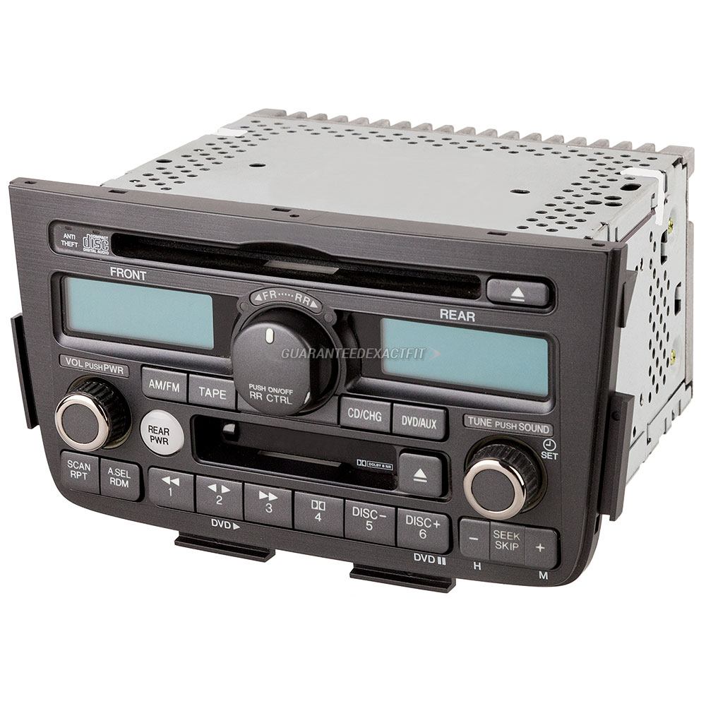 2001 Acura MDX Radio Or CD Player AM-FM-Cass-AUX-6 Disc CD