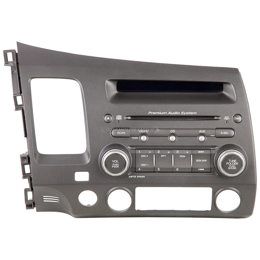 2006 honda civic radio or cd player am fm single cd radio. Black Bedroom Furniture Sets. Home Design Ideas