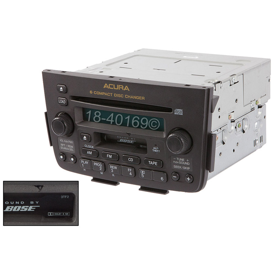 2003 Acura MDX Radio Or CD Player AM-FM-Cass-6CD Radio