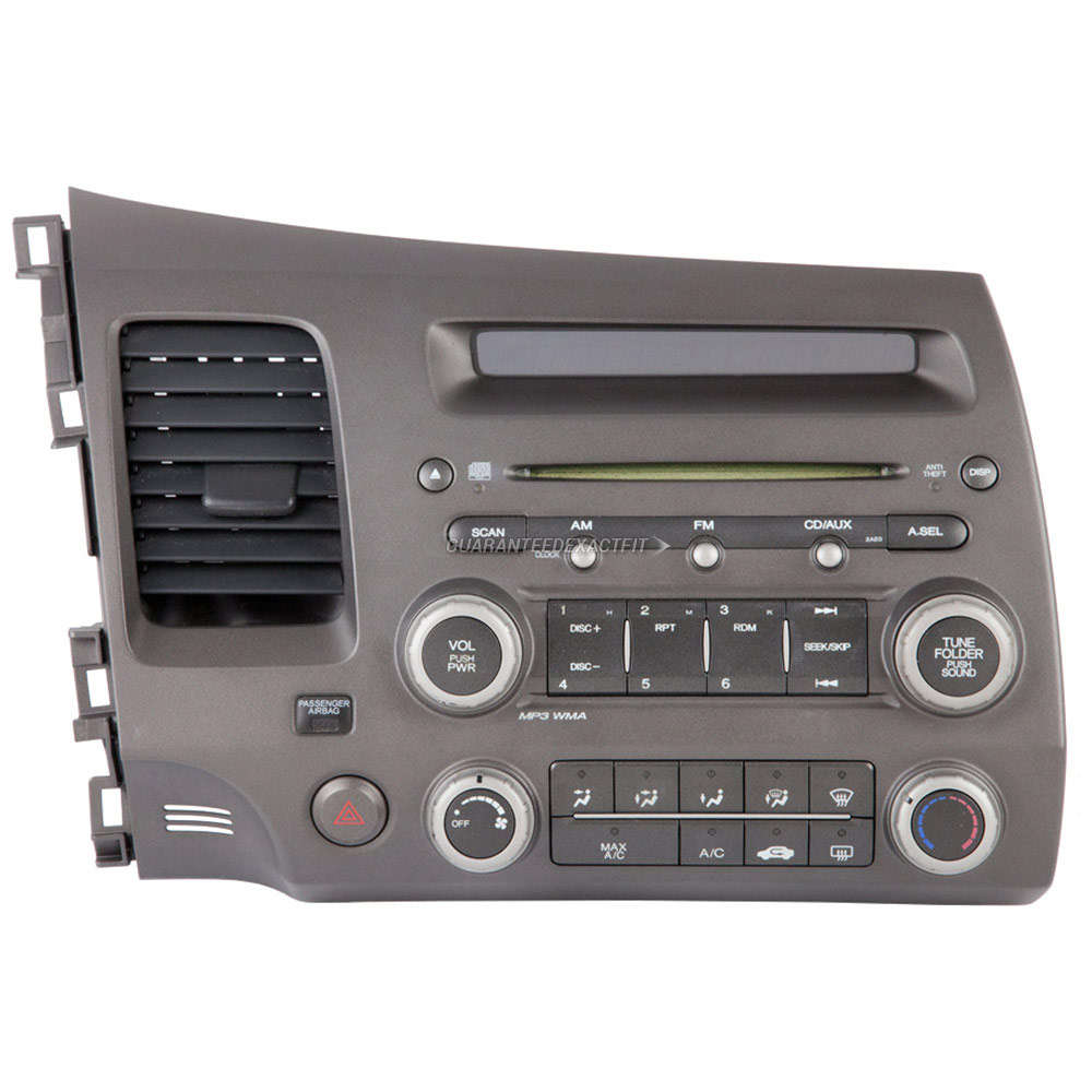 2006 honda civic radio or cd player am fm aux single cd. Black Bedroom Furniture Sets. Home Design Ideas