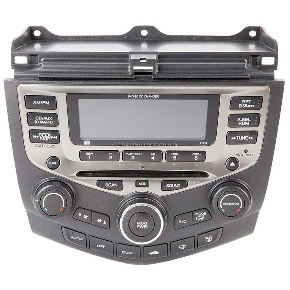 2005 honda accord radio or cd player am fm xm aux 6cd. Black Bedroom Furniture Sets. Home Design Ideas