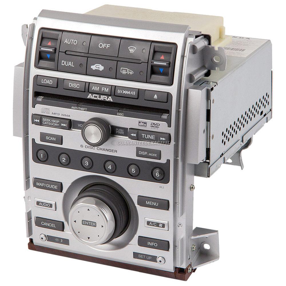 2008 Acura RL Radio Or CD Player AM-FM-DVD-MP3-6 CD Radio