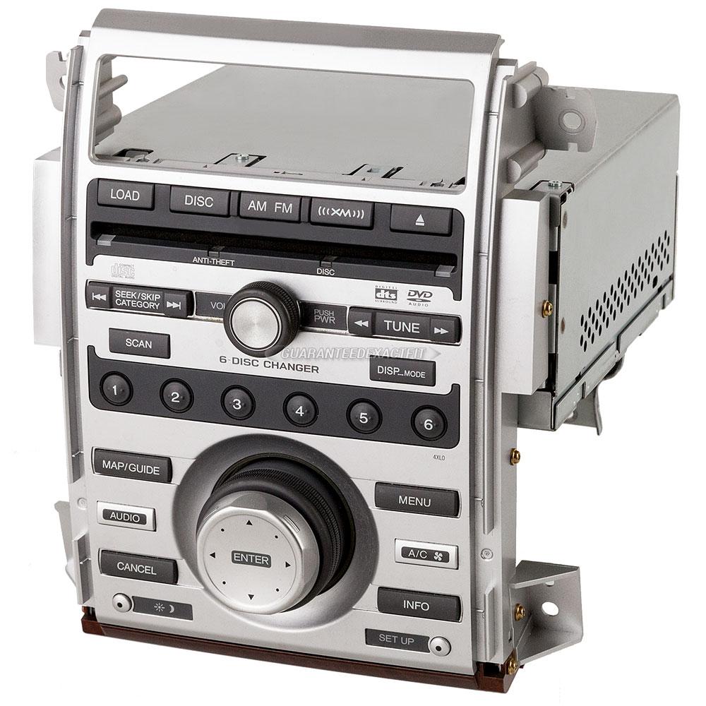 2005 Acura RL Radio Or CD Player AM-FM-XM-MP3 Radio And 6