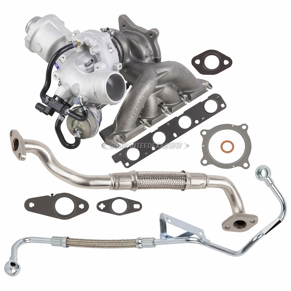 OEM Turbo Kit With Turbocharger Gaskets & Oil Line For
