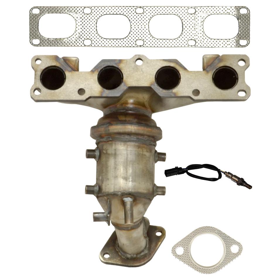 O2 Sensor In Catalytic Converter: 2014 Hyundai Santa Fe Catalytic Converter EPA Approved And
