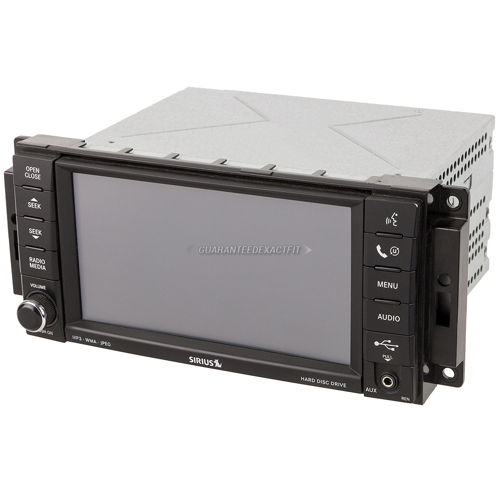 2008 Dodge Ram Trucks Radio or CD Player Radio-AM-FM-XM-MP3-DVD Player with Rear Camera and Face ...