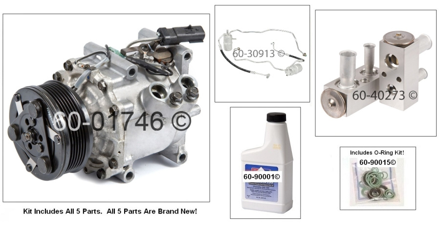 A/C Compressor and Components Kit 60-80369 RK