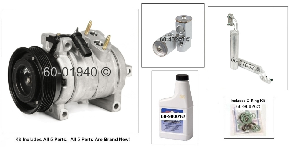 Dodge Magnum A/C Compressor and Components Kit