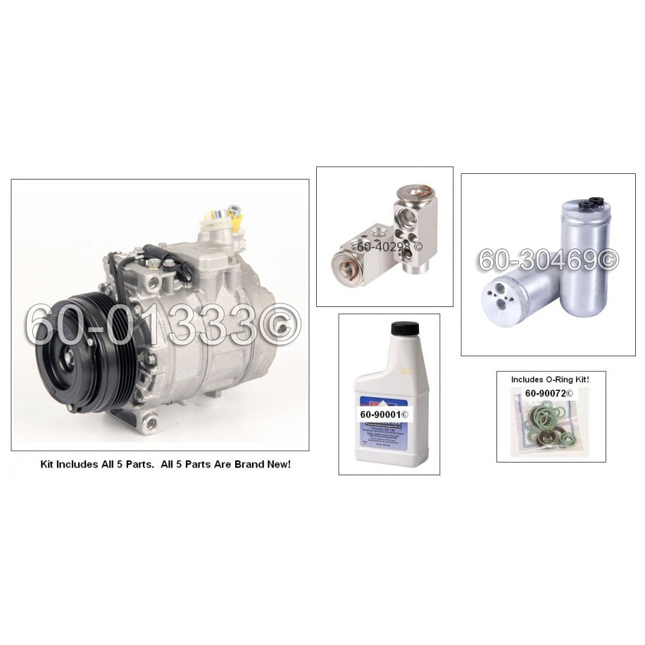 BMW 525 A/C Compressor and Components Kit