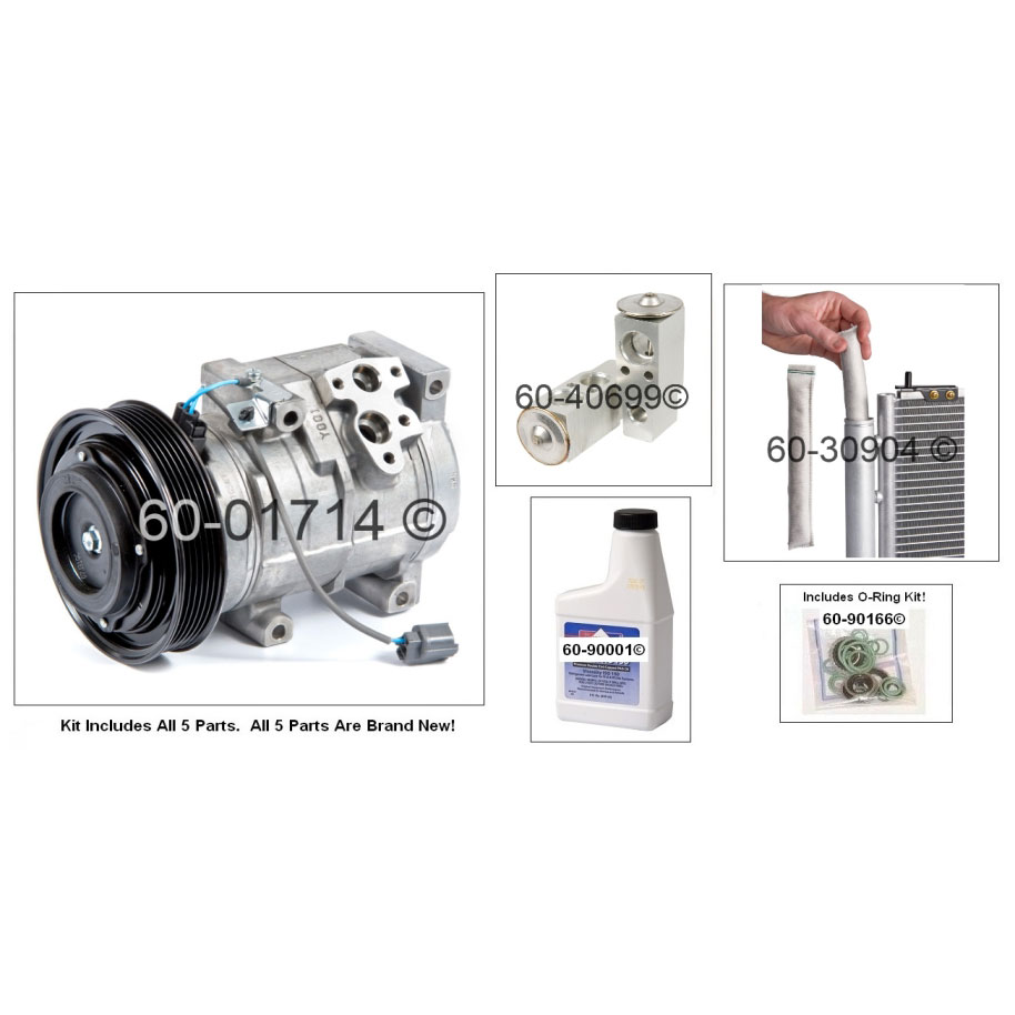 honda odyssey ac compressor and components kit parts  view