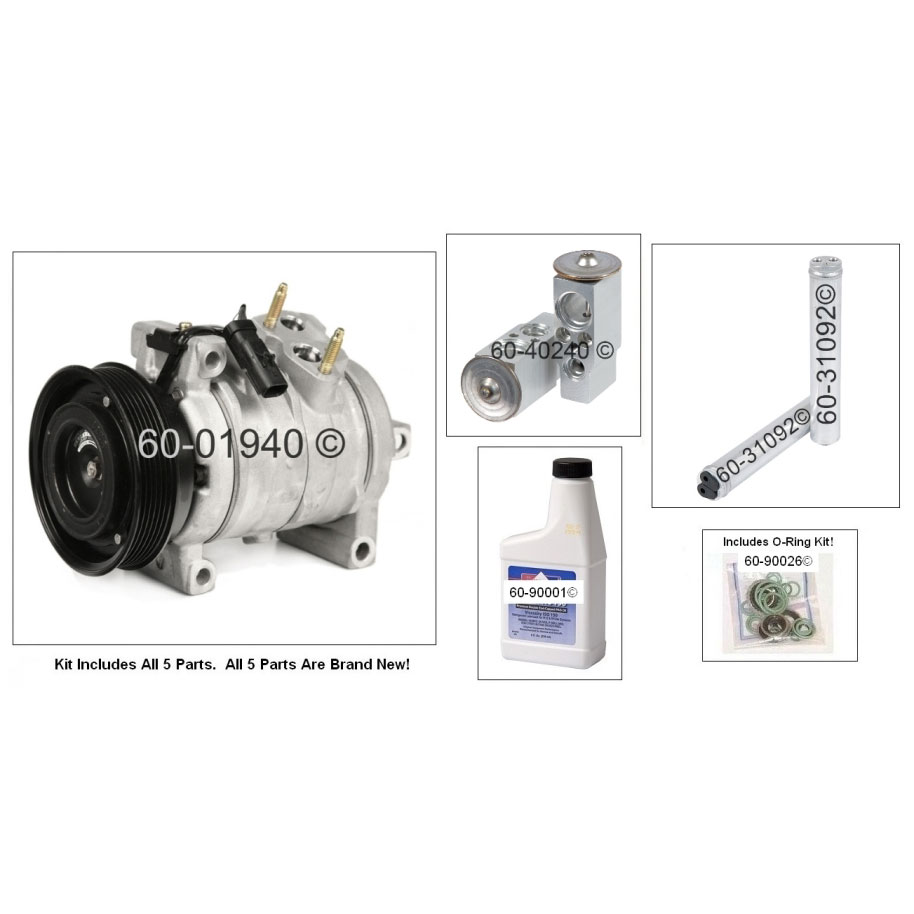 A/C Compressor and Components Kit 60-80445 RK