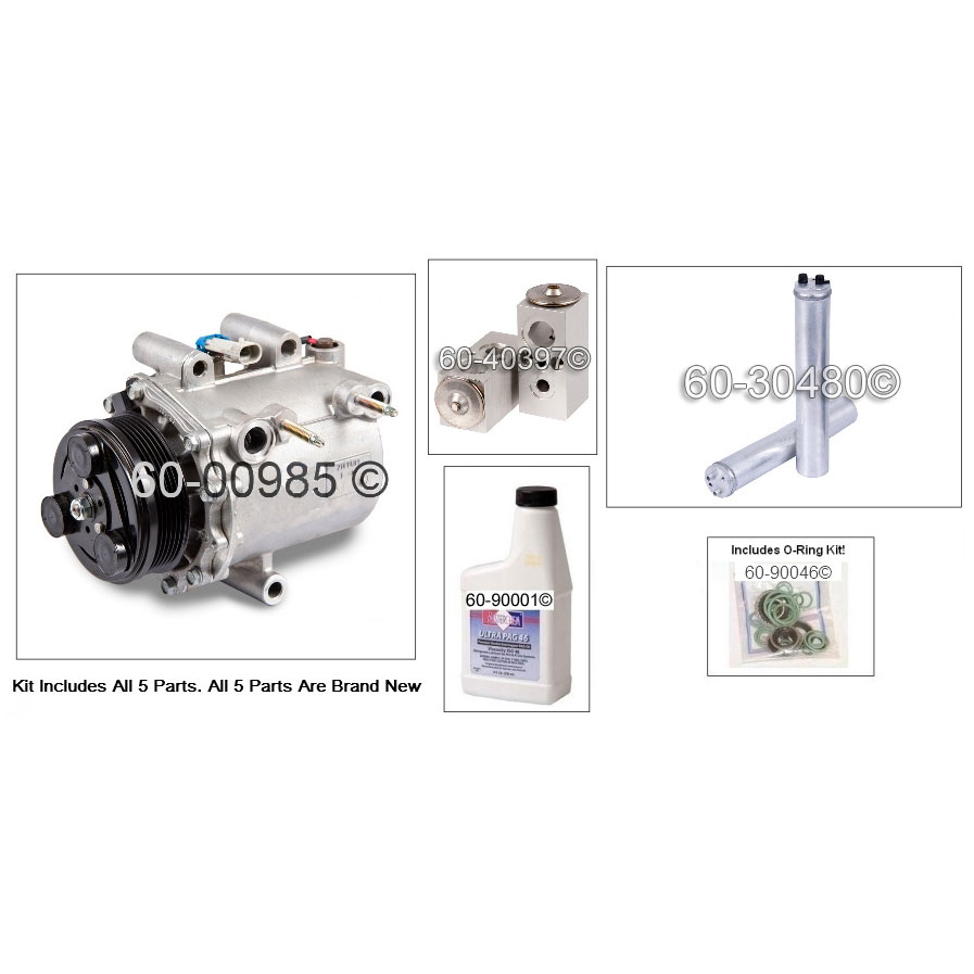 A/C Compressor and Components Kit 60-80471 RK
