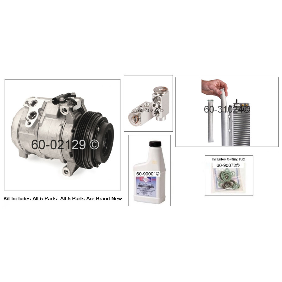A/C Compressor and Components Kit 60-80487 RK