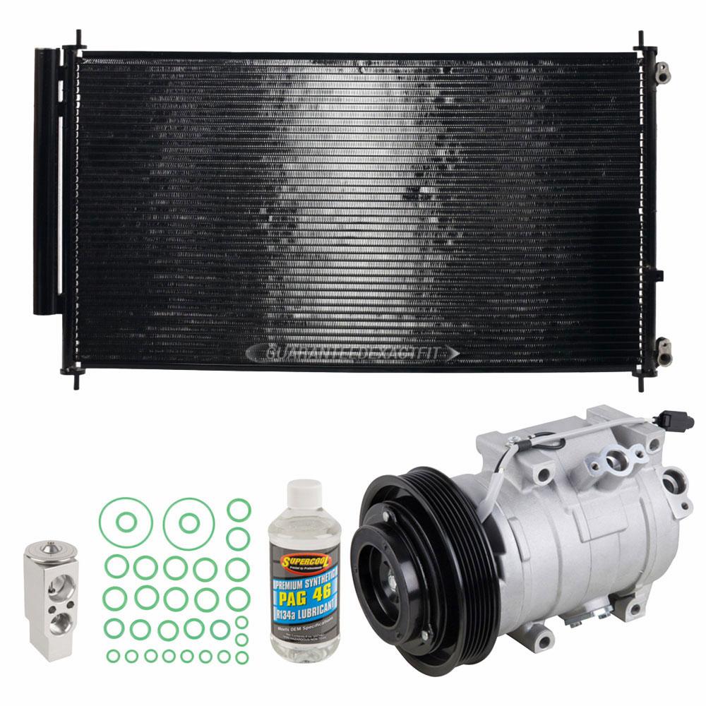 A/C Kit W/ AC Compressor Condenser & Drier For Honda