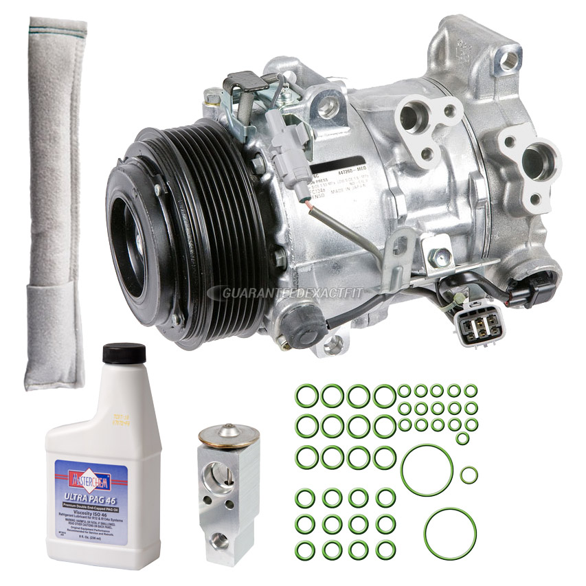 2007 Lexus RX350 A/C Compressor And Components Kit All