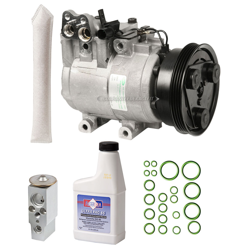 1998 Hyundai Accent Transmission: 2002 Hyundai Accent A/C Compressor And Components Kit 1.5L