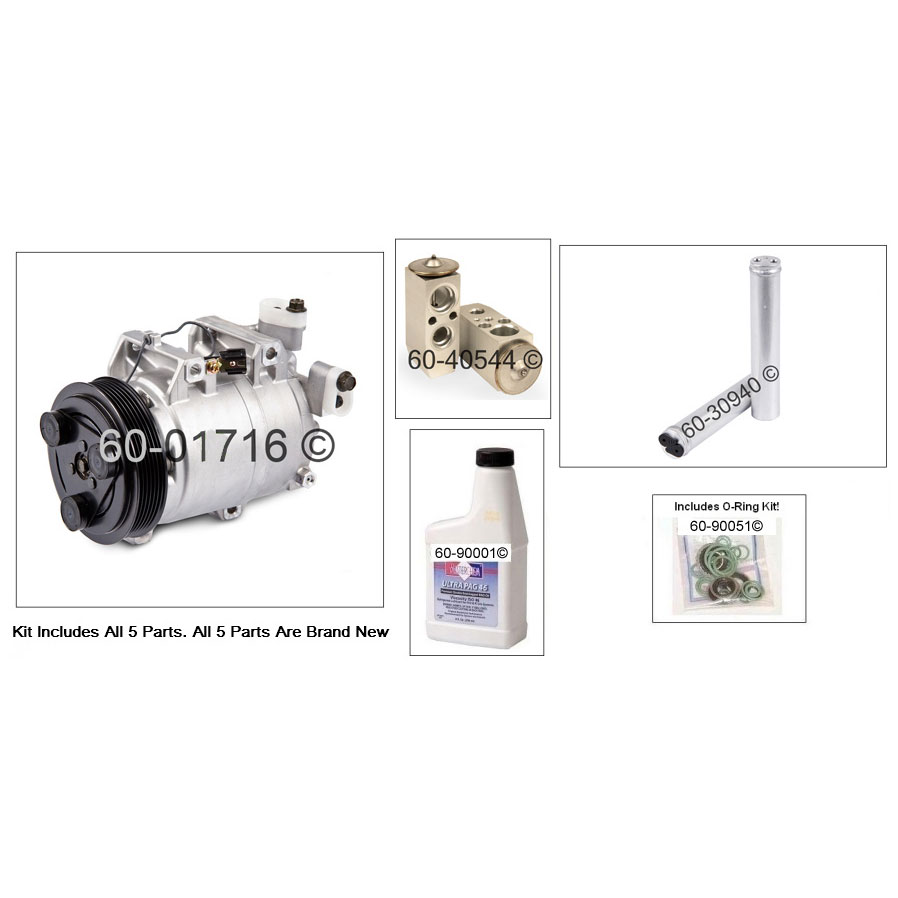 A/C Compressor and Components Kit 60-81130 RK