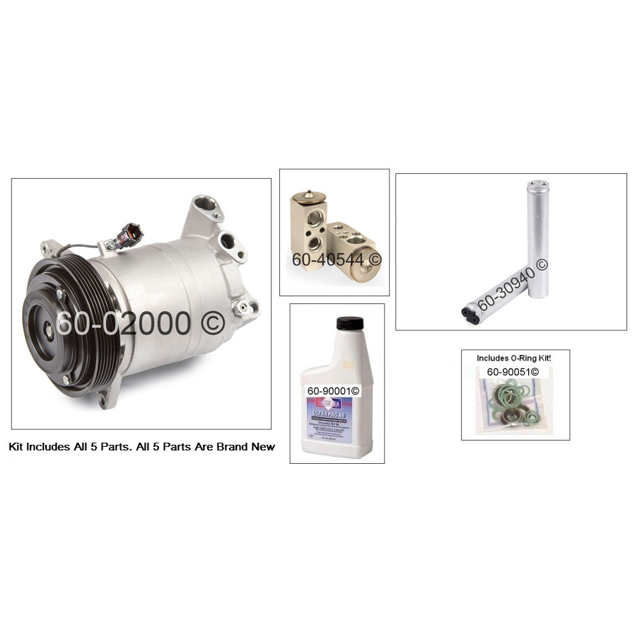 A/C Compressor and Components Kit 60-81131 RK