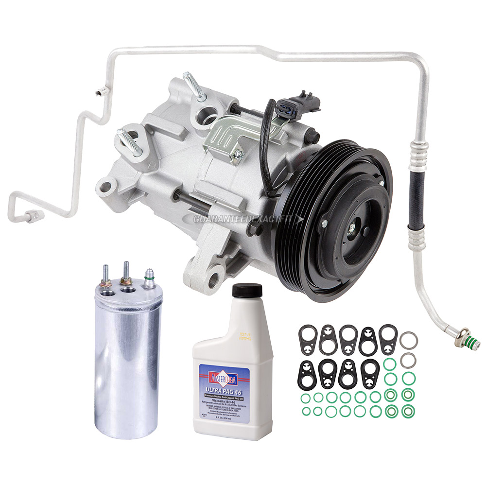 Ac Compressor And Components Kits For Jeep Liberty 2006 2007 37l Engine Part Diagram A C Kit