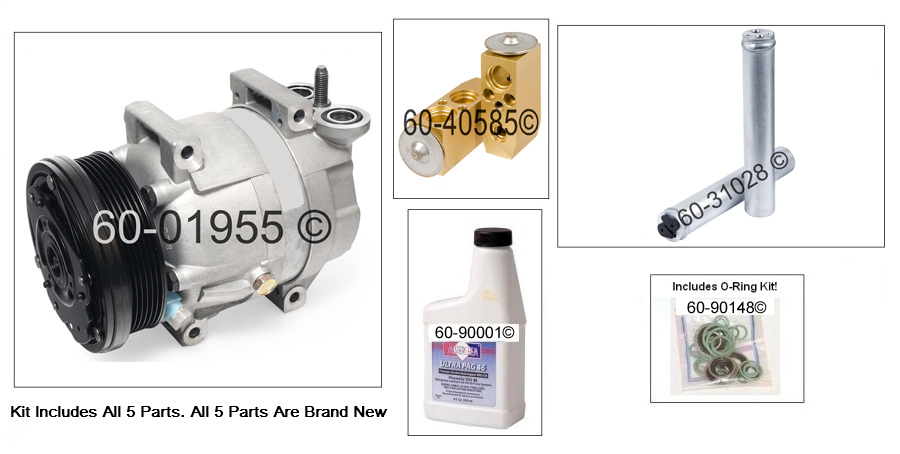 A/C Compressor and Components Kit 60-81236 RK