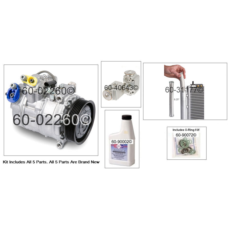 BMW 328Ci A/C Compressor and Components Kit