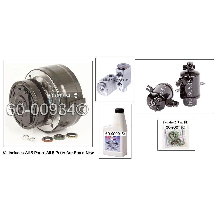 Mercedes_Benz 300D A/C Compressor and Components Kit