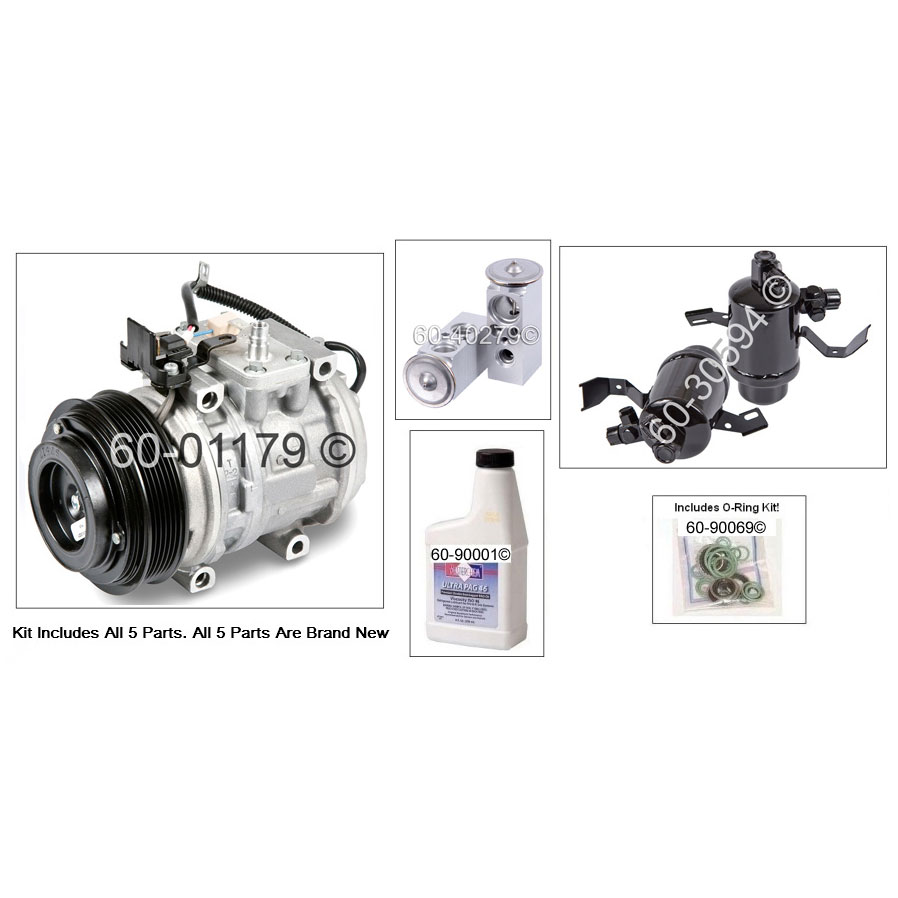 Mercedes Benz 300E A/C Compressor and Components Kit