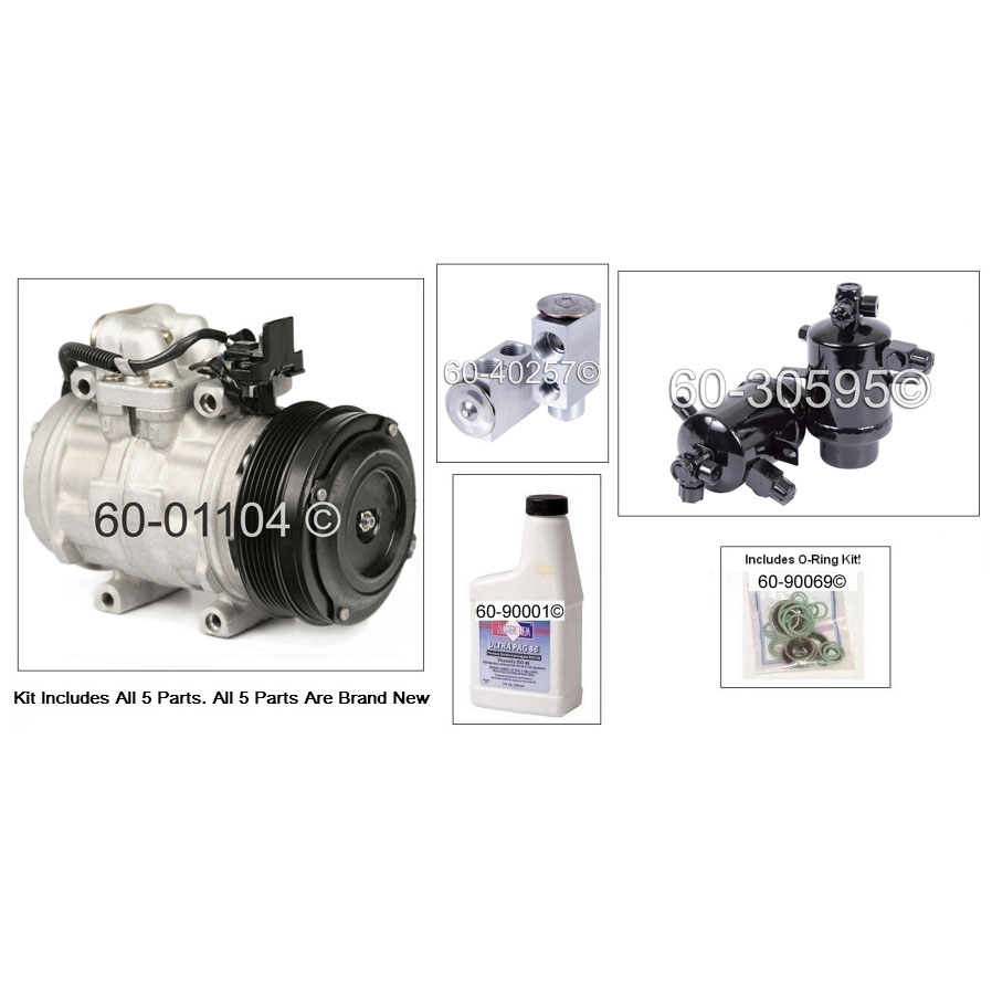 Mercedes Benz 300SEL A/C Compressor and Components Kit