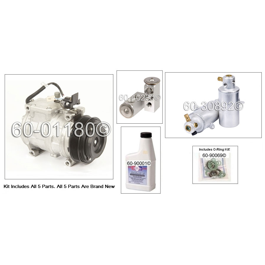 Mercedes_Benz 300SE A/C Compressor and Components Kit