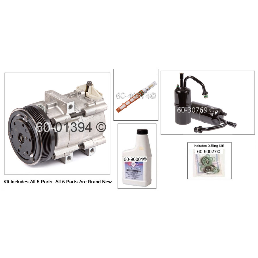 Ford Contour A/C Compressor and Components Kit