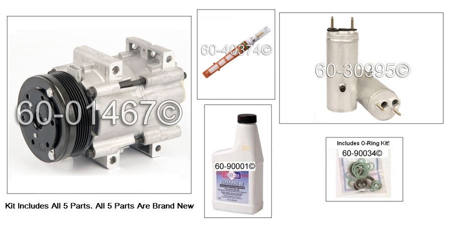 Ford Freestar A/C Compressor and Components Kit