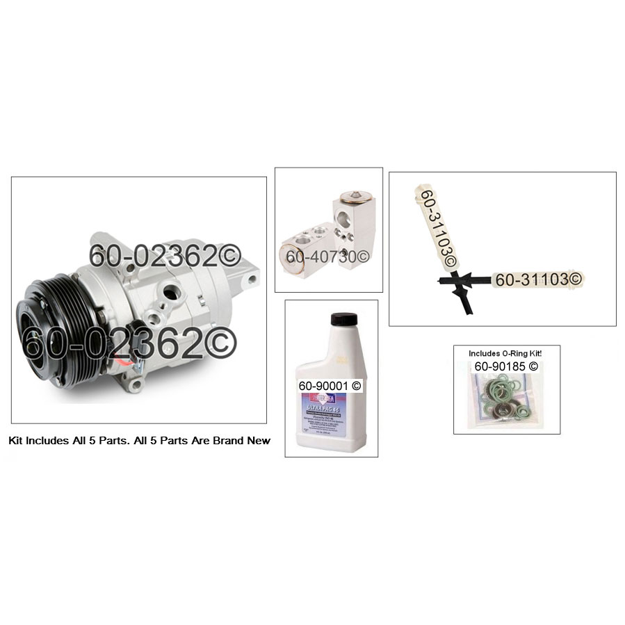Ford Fusion A/C Compressor and Components Kit