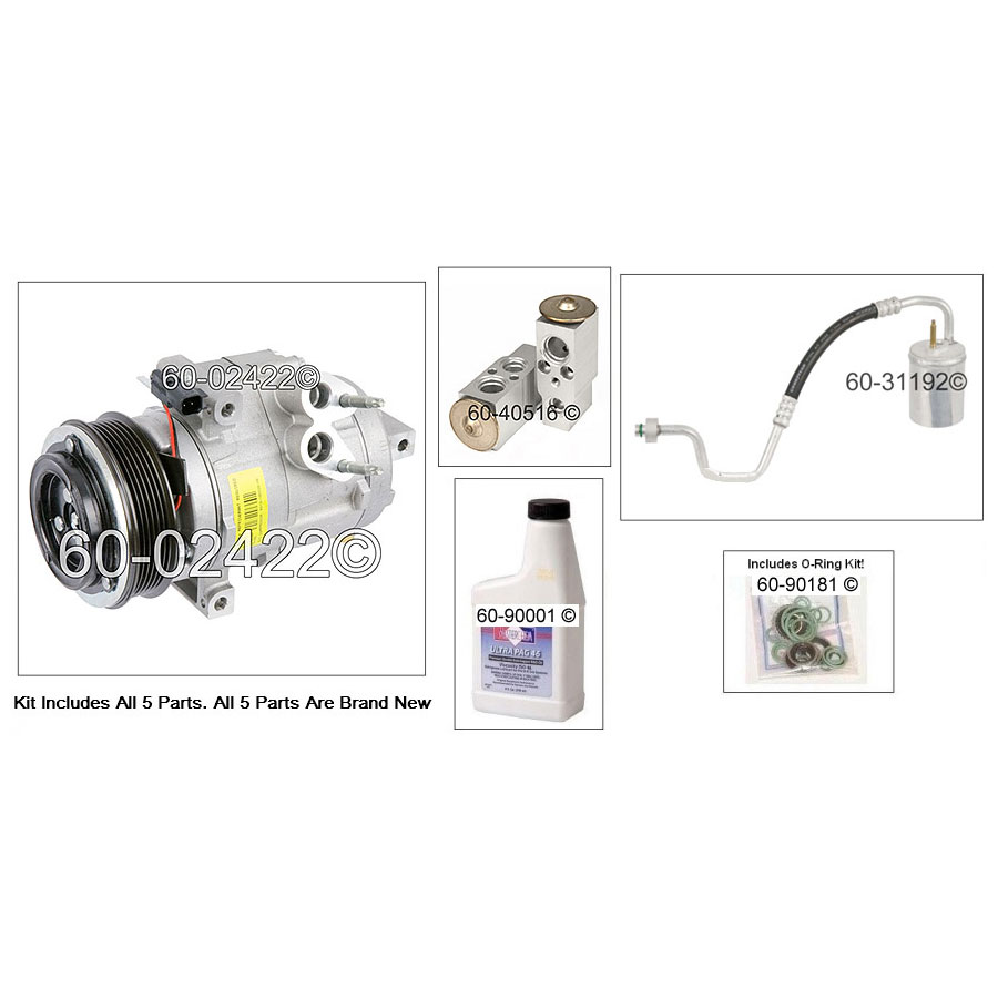 Ford Flex A/C Compressor and Components Kit