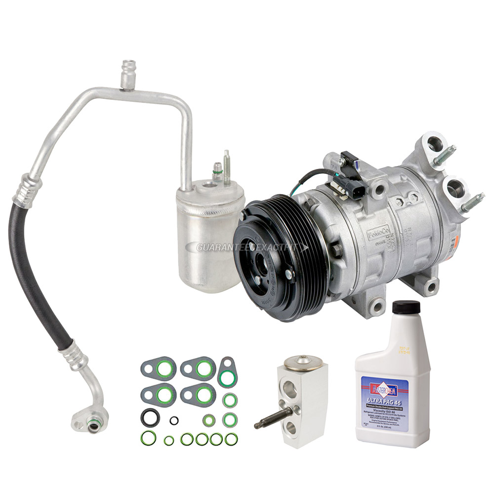 2010 Ford Escape A C Compressor And Components Kit 2 5l Non Hybrid Engine With Manual